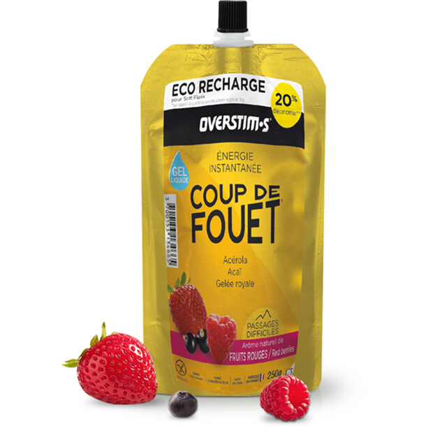 OVERSTIM.s Coup de Fouet Sachet de gels liquides 250g, Red Berries