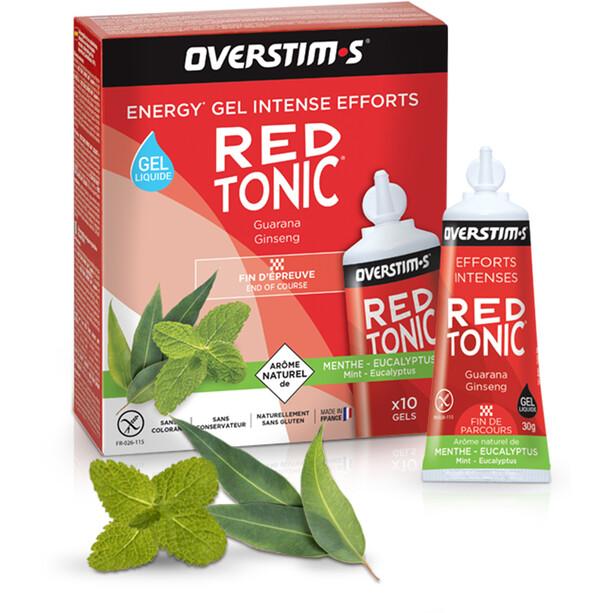 OVERSTIM.s Red Tonic Liquid Gel Box 10x30g Minze Eukalyptus