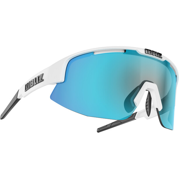 Bliz Matrix M12 Brille shiny white/smoke with blue multi
