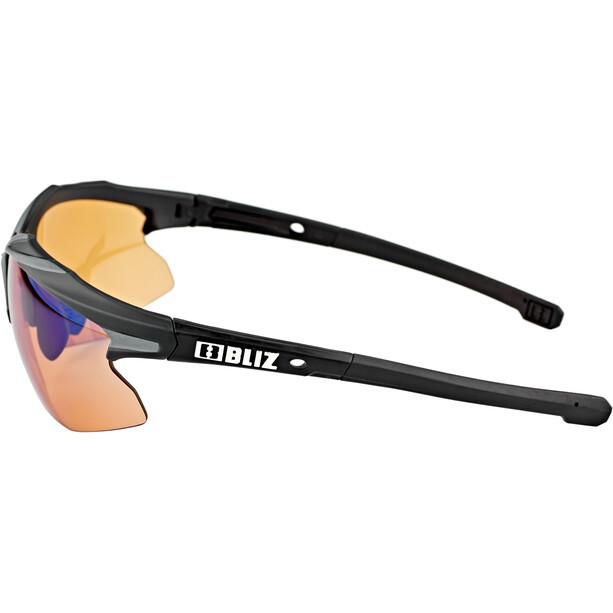 Bliz Hybrid M18 Lunettes Ultra Lens Science, matt black/photochromic brown w blue multi