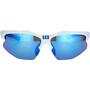 Bliz Hybrid M12 Brille für schmale Gesichter white/smoke with blue multi