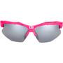 Bliz Hybrid M11 Brille für schmale Gesichter rubber neon pink/smoke with silver mirror