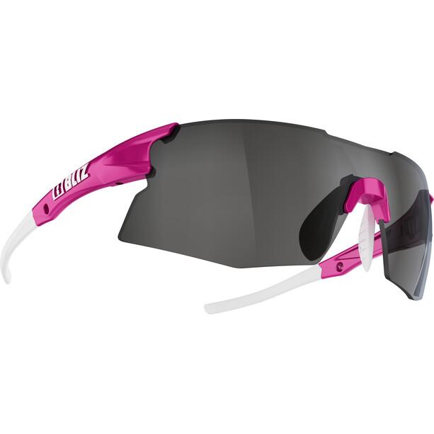 Bliz Tempo M12 Glasses for Small Faces rubber neon pink/smoke with silver mirror