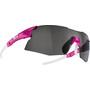 Bliz Tempo M12 Brille für schmale Gesichter rubber neon pink/smoke with silver mirror