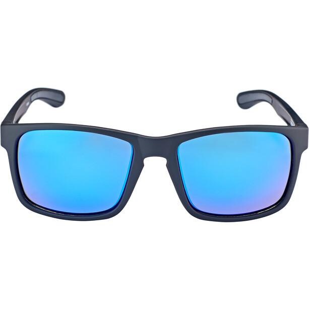 Bliz Luna M9 Lunettes, matt rubber black/smoke with blue multi