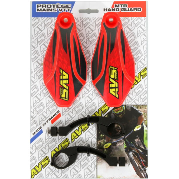 AVS Racing Hand Guard Kit with Design red/black