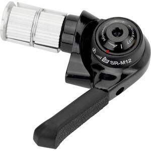microSHIFT BS-SR-M12 Dérailleurs de guidon Compatible SRAM MTB 12 vitesses, noir noir