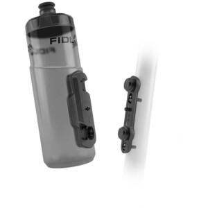 Fidlock Twist Flasche 600ml inkl. Base Fahrrad-Befestigung transparent/schwarz transparent/schwarz
