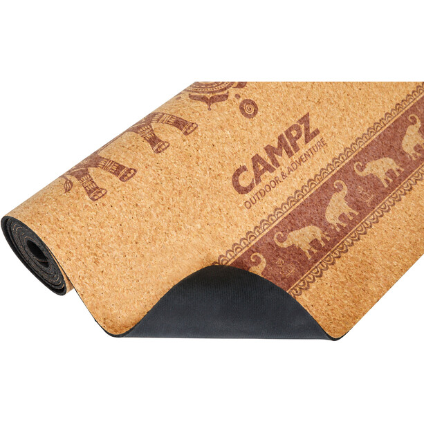CAMPZ Cork Joogamatto L, ruskea