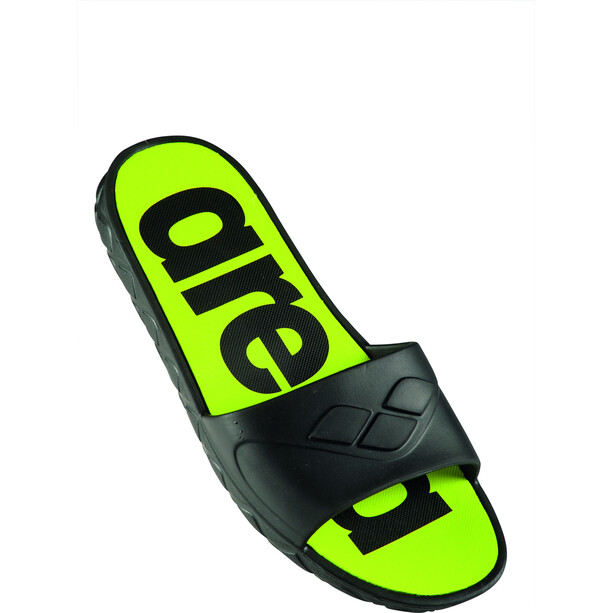 arena Watergrip Sandalen Herren black/lime