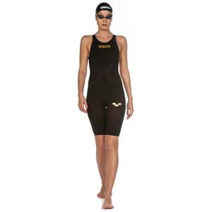 arena Powerskin Carbon Air2 Full Body Short Leg Oper Back Badeanzug Damen black/black/gold black/black/gold