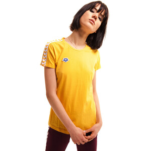 arena Team T-Shirt Damen lily yellow/white/lily yellow lily yellow/white/lily yellow
