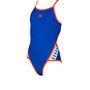arena Team Stripe Super*** Back One Piece Badeanzug Mädchen neon blue/nectarine