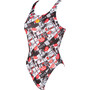 arena Comics Race Swim Tech L One Piece Badeanzug Damen red/multi