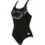 arena Essentials Swim Pro Back One Piece Badeanzug Damen black/white