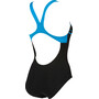 arena Essentials Swim Pro Back One Piece Badeanzug Damen black/turquoise