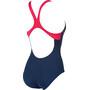 arena Essentials Swim Pro Back One Piece Badeanzug Damen navy/freak rose