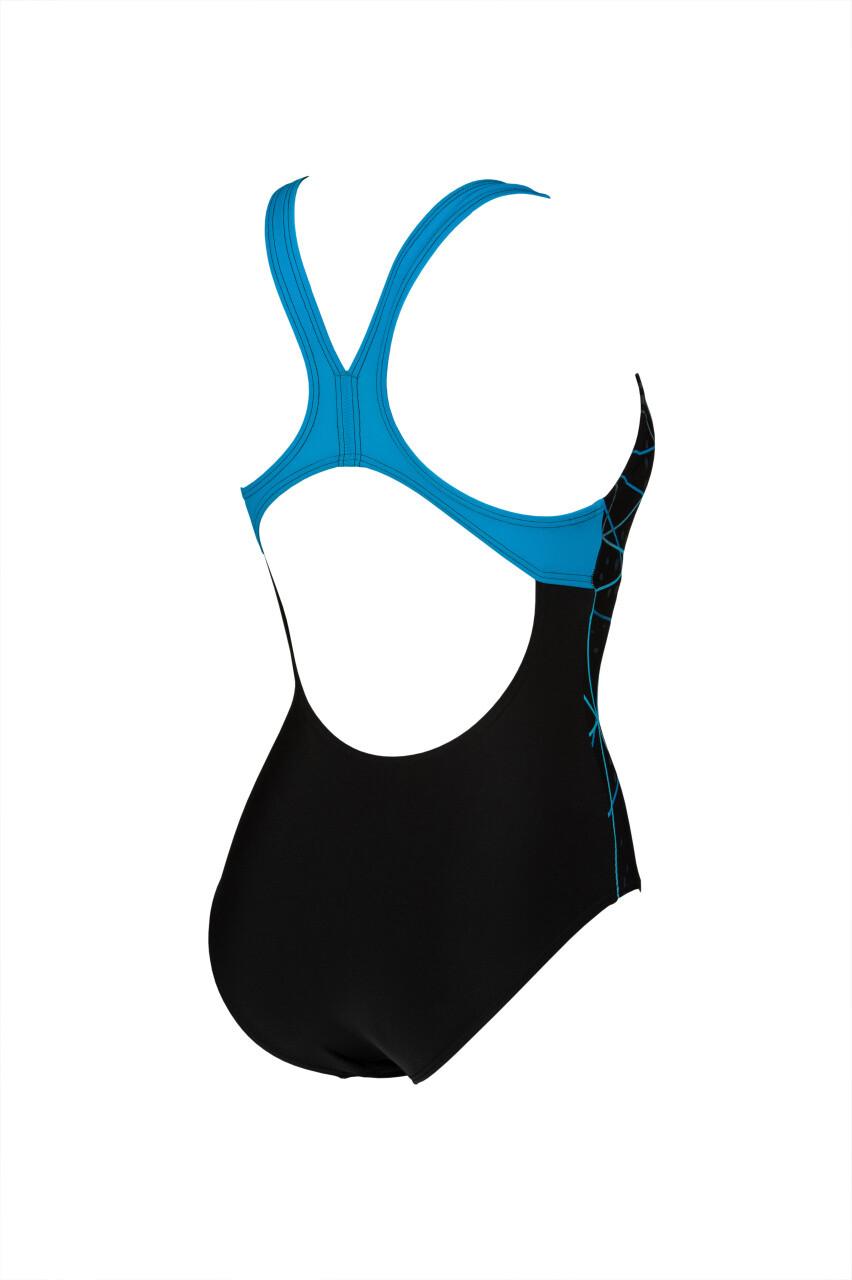 arena Badeanzug Damen Harmonious V Back eingearbeiteter Bustier Frauen MaxFit