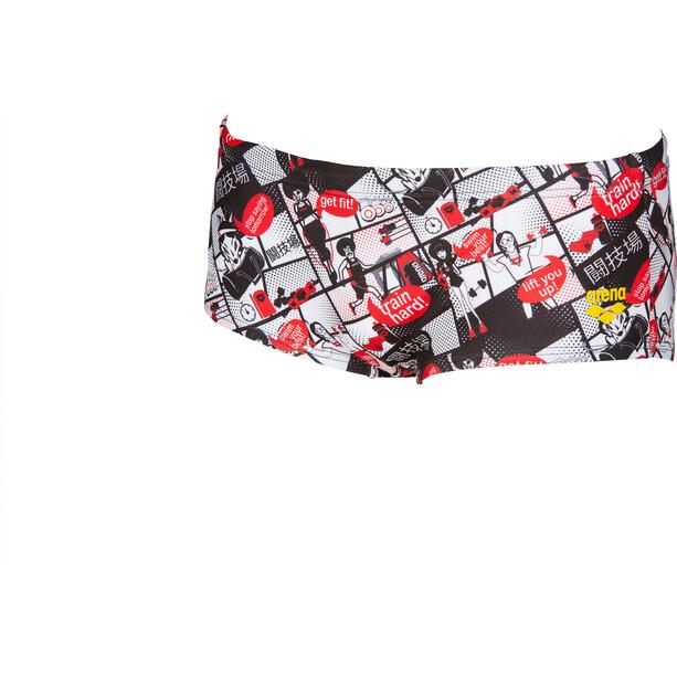 arena Comics Race Low Waist Shorts Herren red/multi