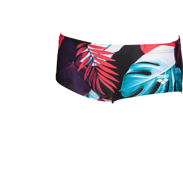 arena Tropical Leaves Low Waist Shorts Herren black/multi