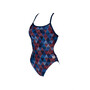 arena Linear Triangle Challenge Back One Piece Badeanzug Damen red multi/navy