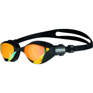 arena Cobra Tri Swipe Mirror Goggles yellow copper/black yellow copper/black