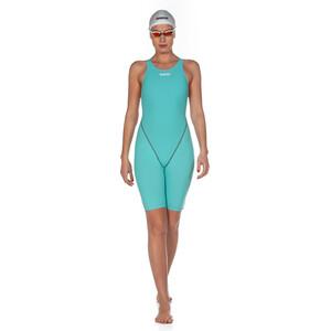 arena Powerskin St 2.0 Short Leg Open Einteiler Damen aquamarine aquamarine