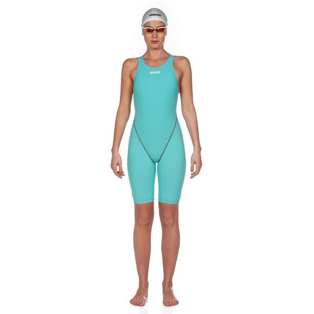 arena Powerskin St 2.0 Short Leg Open Einteiler Damen aquamarine