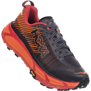 Hoka One One EVO Mafate 2 Running Shoes Herr Black/Poppy Red Black/Poppy Red