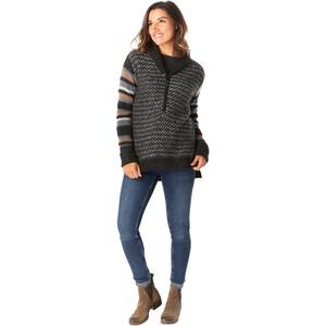Smartwool CHUP Potlach Half-Zip Sweater Damen charcoal heather charcoal heather