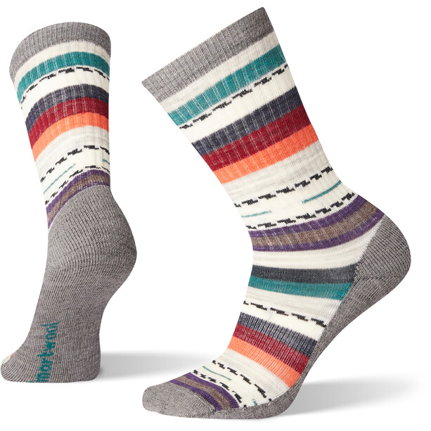 Smartwool Hike Light Margarita Crew Socken Damen medium gray
