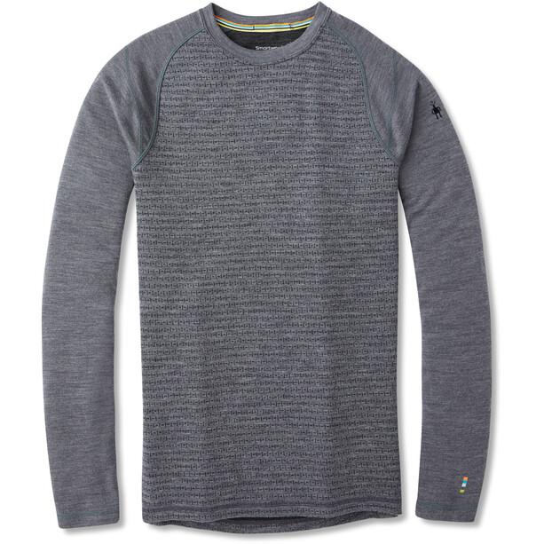 Smartwool Merino 250 Pattern Baselayer Rundhals Shirt Herren medium gray tick stitch