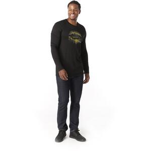 Smartwool Merino Sport 150 Mountain Aurora Langarm T-Shirt Herren black black