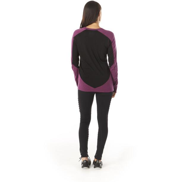 Smartwool Merino Sport 250 Rundhals-Langarmshirt Damen sangria heather