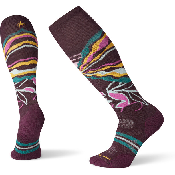 Smartwool PhD Ski Medium Pattern Socken Damen bordeaux