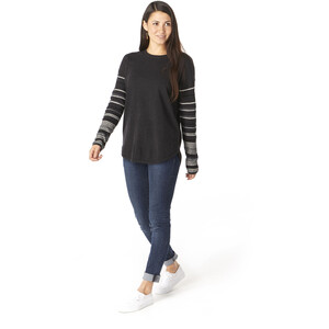 Smartwool Shadow Pine Rundhals-Sweater Damen charcoal heather charcoal heather