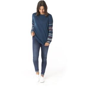 Smartwool Shadow Pine Rundhals-Sweater Damen deep marlin heather deep marlin heather