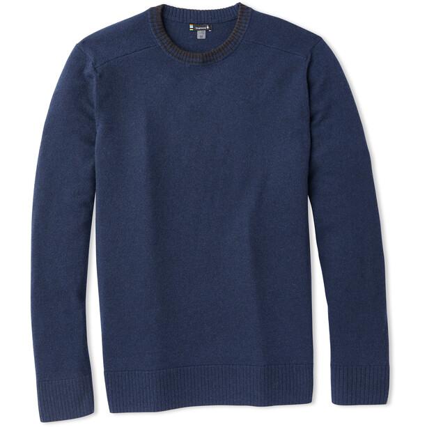 Smartwool Sparwood Rundhals-Sweater Herren deep navy/charcoal heather