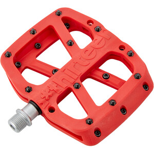 e*thirteen Base Flat Pedals 22 Pins レッド