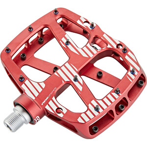 e*thirteen Plus Flat Pedals 22 Pins red red