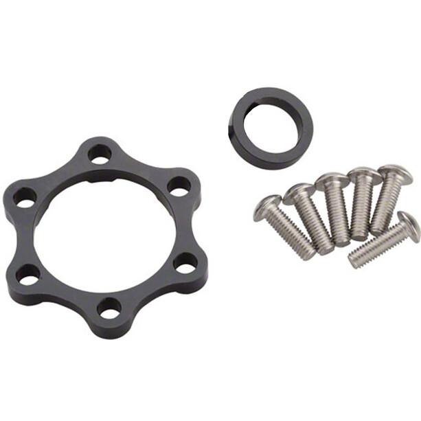 Problem Solvers Booster Kit Entretoises pour moyeux arrière 6mm, silver/black