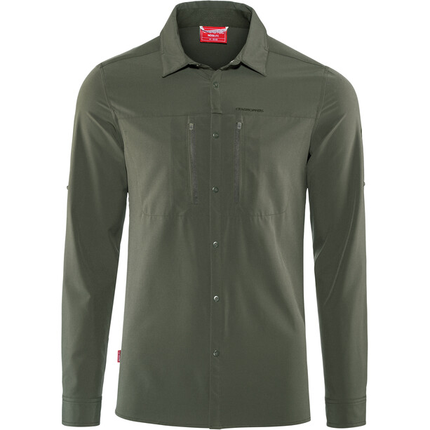 Craghoppers NosiLife Pro III Long Sleeved Shirt Herr dark khaki dark khaki