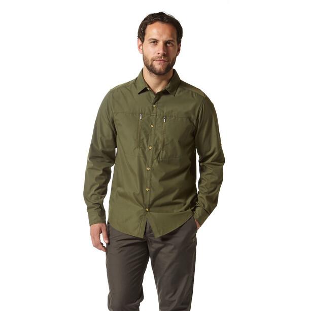 Craghoppers NosiLife Boulder Long Sleeved Shirt Herr dark khaki