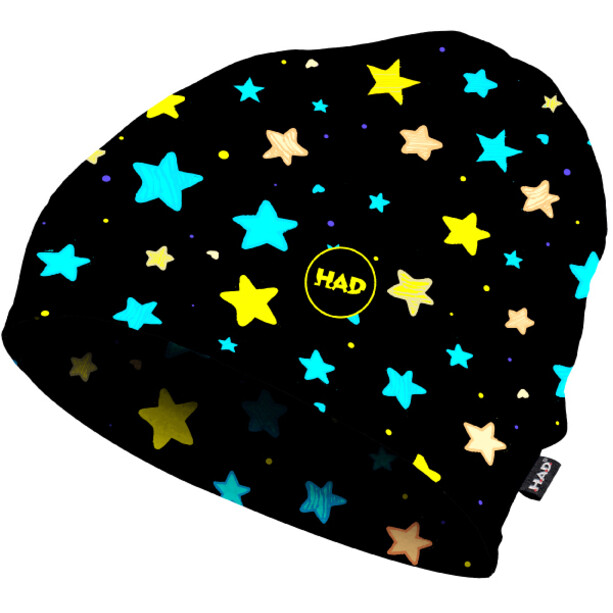 HAD Printed Fleece Beanie Kinder starlove fluo