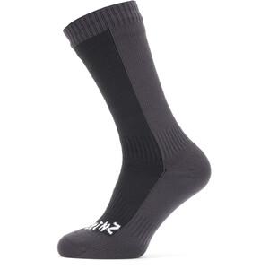 Sealskinz Waterproof Cold Weather Mid Socks svart/grå svart/grå