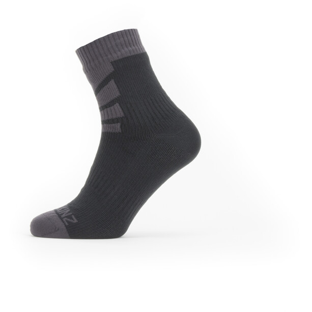 Sealskinz Waterproof Warm Weather Socken Knöchelhoch black/grey