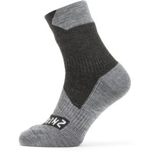 Sealskinz Waterproof All Weather Socken Knöchelhoch grau/schwarz grau/schwarz