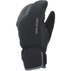 Sealskinz Waterproof Extreme Cold Weather Guanti Split Finger da ciclismo, nero/grigio nero/grigio