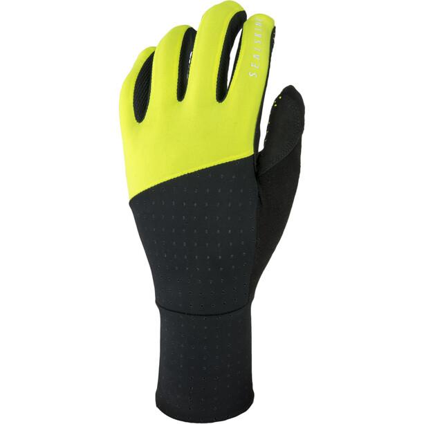 Sealskinz Solo Super Thin Fahrradhandschuhe black/neon yellow