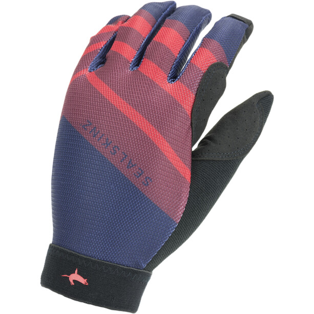 Sealskinz Solo Super Thin MTB Handschuhe navy blue/red/black